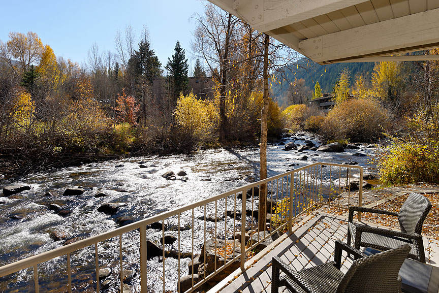 Just Listed: Contemporary Downtown Aspen Riverfront Condo